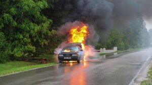 Car In Flames